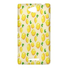 Pattern Template Lemons Yellow Sony Xperia C (S39H)