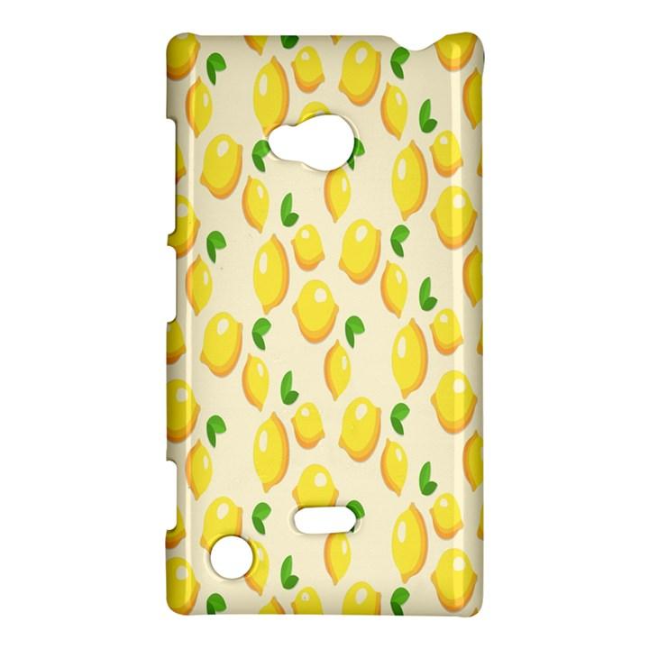 Pattern Template Lemons Yellow Nokia Lumia 720