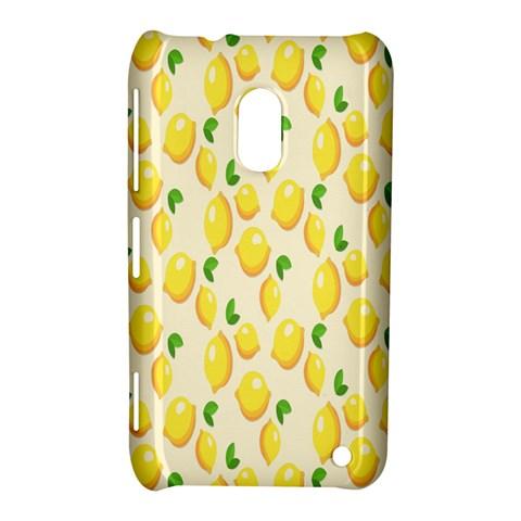 Pattern Template Lemons Yellow Nokia Lumia 620