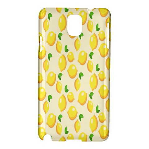 Pattern Template Lemons Yellow Samsung Galaxy Note 3 N9005 Hardshell Case