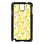 Pattern Template Lemons Yellow Samsung Galaxy Note 3 N9005 Case (Black) Front