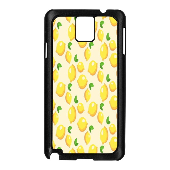 Pattern Template Lemons Yellow Samsung Galaxy Note 3 N9005 Case (Black)
