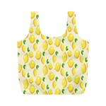 Pattern Template Lemons Yellow Full Print Recycle Bags (M)  Front