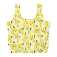 Pattern Template Lemons Yellow Full Print Recycle Bags (L)