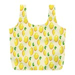 Pattern Template Lemons Yellow Full Print Recycle Bags (L)  Back
