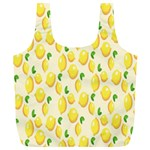 Pattern Template Lemons Yellow Full Print Recycle Bags (L)  Front