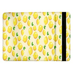 Pattern Template Lemons Yellow Samsung Galaxy Tab Pro 12.2  Flip Case