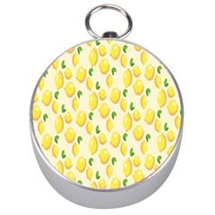 Pattern Template Lemons Yellow Silver Compasses