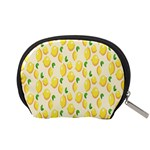 Pattern Template Lemons Yellow Accessory Pouches (Small)  Back