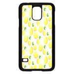 Pattern Template Lemons Yellow Samsung Galaxy S5 Case (Black) Front