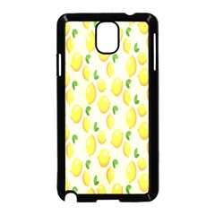 Pattern Template Lemons Yellow Samsung Galaxy Note 3 Neo Hardshell Case (Black)