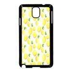 Pattern Template Lemons Yellow Samsung Galaxy Note 3 Neo Hardshell Case (Black) Front