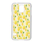 Pattern Template Lemons Yellow Samsung Galaxy S5 Case (White) Front