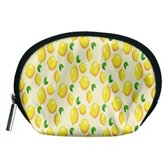 Pattern Template Lemons Yellow Accessory Pouches (Medium)
