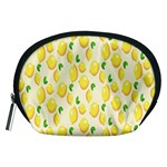 Pattern Template Lemons Yellow Accessory Pouches (Medium)  Front