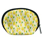 Pattern Template Lemons Yellow Accessory Pouches (Medium)  Back