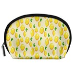 Pattern Template Lemons Yellow Accessory Pouches (Large)  Front