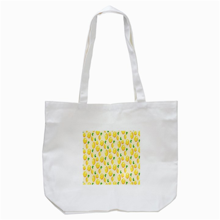 Pattern Template Lemons Yellow Tote Bag (White)