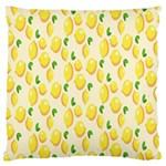 Pattern Template Lemons Yellow Standard Flano Cushion Case (Two Sides) Back