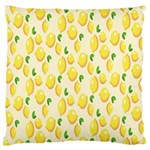 Pattern Template Lemons Yellow Large Flano Cushion Case (One Side) Front