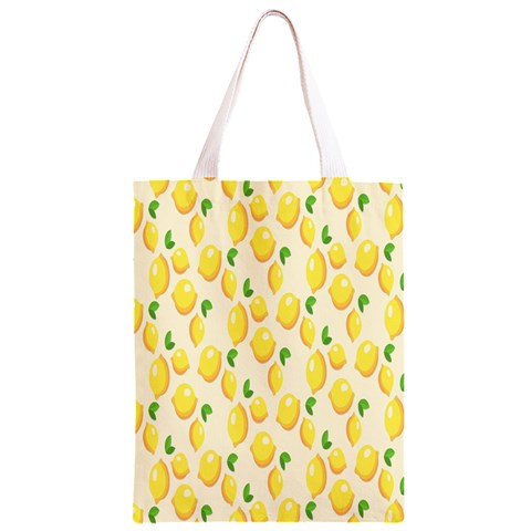 Pattern Template Lemons Yellow Classic Light Tote Bag
