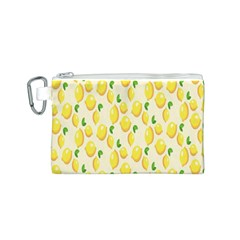 Pattern Template Lemons Yellow Canvas Cosmetic Bag (S)