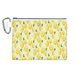 Pattern Template Lemons Yellow Canvas Cosmetic Bag (L) Front