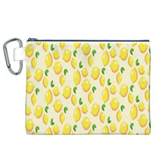 Pattern Template Lemons Yellow Canvas Cosmetic Bag (XL)
