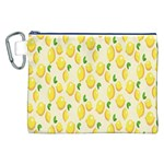 Pattern Template Lemons Yellow Canvas Cosmetic Bag (XXL) Front