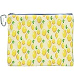 Pattern Template Lemons Yellow Canvas Cosmetic Bag (XXXL) Front