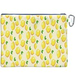 Pattern Template Lemons Yellow Canvas Cosmetic Bag (XXXL) Back