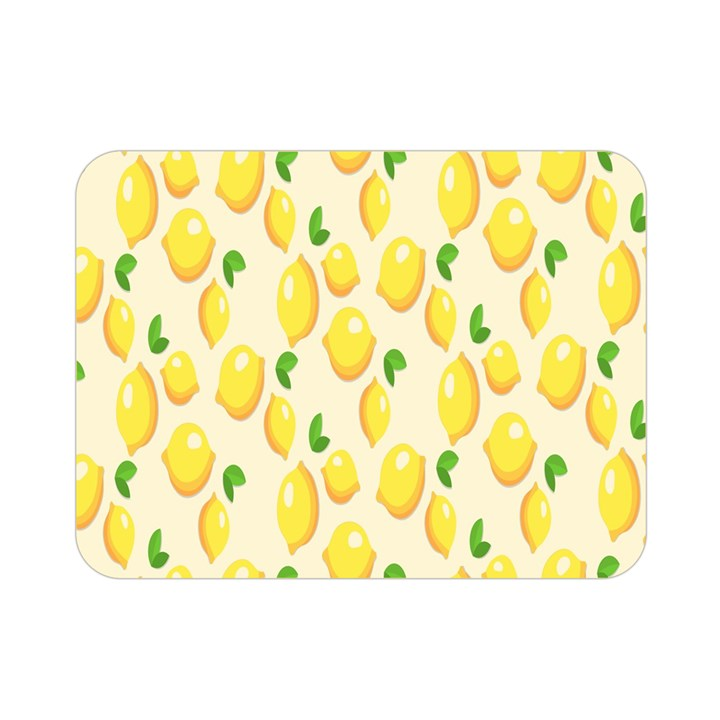 Pattern Template Lemons Yellow Double Sided Flano Blanket (Mini)