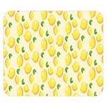 Pattern Template Lemons Yellow Double Sided Flano Blanket (Small)  50 x40 Blanket Front