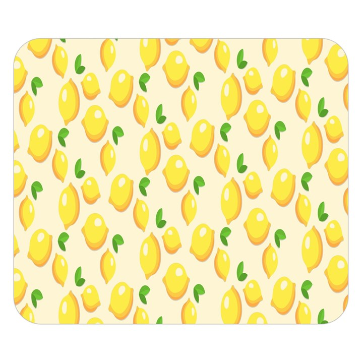Pattern Template Lemons Yellow Double Sided Flano Blanket (Small)