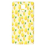 Pattern Template Lemons Yellow Galaxy Note 4 Back Case Front