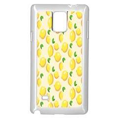 Pattern Template Lemons Yellow Samsung Galaxy Note 4 Case (White)
