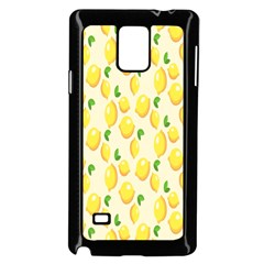 Pattern Template Lemons Yellow Samsung Galaxy Note 4 Case (Black)