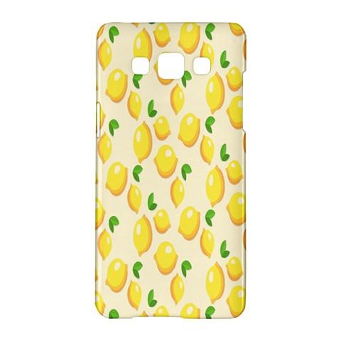 Pattern Template Lemons Yellow Samsung Galaxy A5 Hardshell Case
