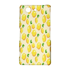 Pattern Template Lemons Yellow Sony Xperia Z3 Compact