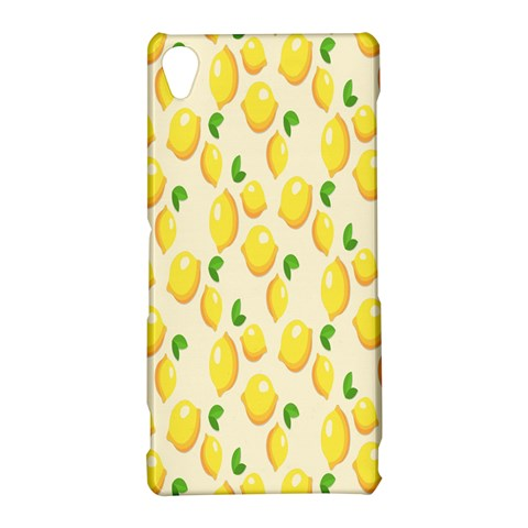 Pattern Template Lemons Yellow Sony Xperia Z3