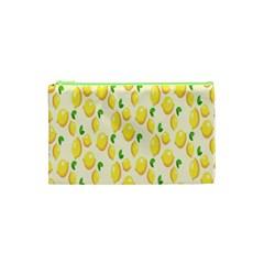 Pattern Template Lemons Yellow Cosmetic Bag (XS)