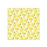 Pattern Template Lemons Yellow Satin Bandana Scarf Front