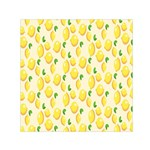 Pattern Template Lemons Yellow Small Satin Scarf (Square) Front