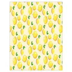 Pattern Template Lemons Yellow Drawstring Bag (Large)