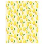 Pattern Template Lemons Yellow Drawstring Bag (Large) Back