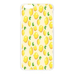 Pattern Template Lemons Yellow Apple Seamless iPhone 6 Plus/6S Plus Case (Transparent)
