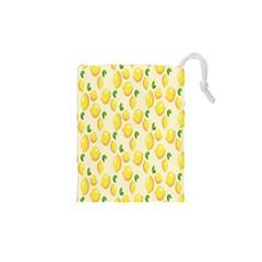 Pattern Template Lemons Yellow Drawstring Pouches (XS)