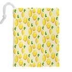 Pattern Template Lemons Yellow Drawstring Pouches (XXL) Back