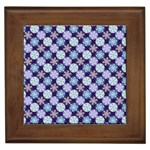 Snowflakes Pattern Framed Tiles Front
