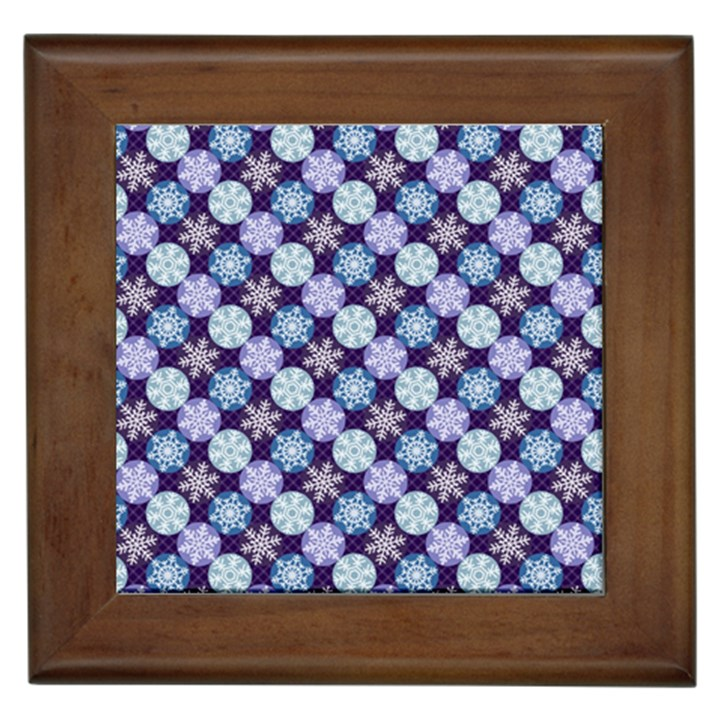 Snowflakes Pattern Framed Tiles